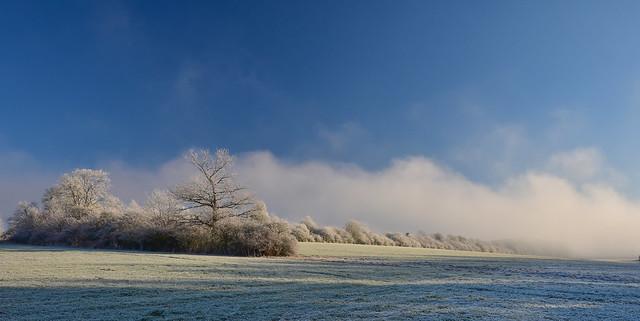 Winterlandschaft im Grabfeld