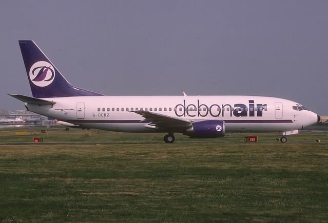 Debonair Boeing 737-300; G-DEBZ, August 1999