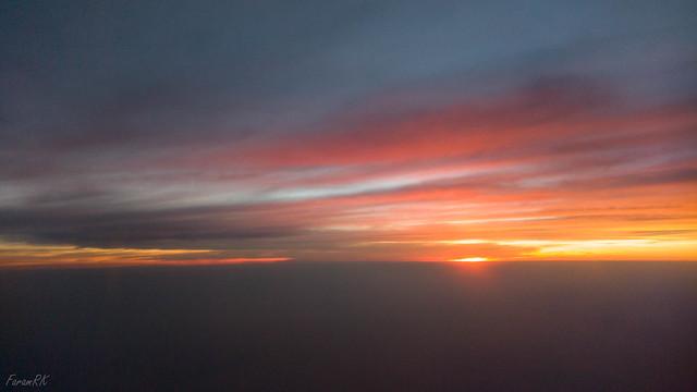 Departing VOBL at sunset