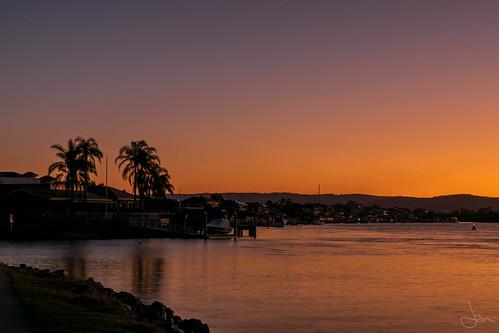 sunset australia colourful goldcoast paradisepoint seqld nikond3300
