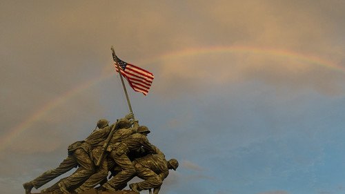 Rainbow over the Iwo Jima Memorial
