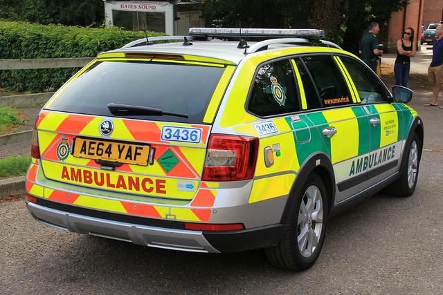 East Midlands Ambulance Service Skoda Octavia Scout Rapid Response Vehicle