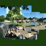 Foxton Locks Basin. #foxtonlocks #canal #bridge61 #boats #dog #instagrames #instalike #followme #like4like #commentsplease #comments #bluesky