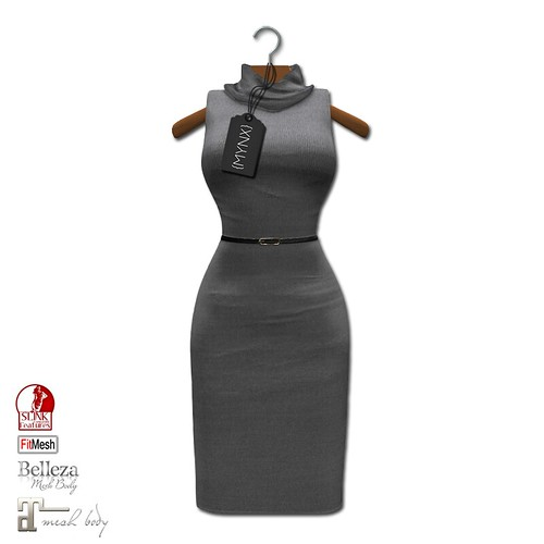 {MYNX} Cowl Neck Tank Dress - Gray