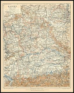 s0532 4397 MeyA4B2 Bayern Meyers Konversations-Lexikon Zweiter Band Jahr 1885. Vierte Auflage Verlag des Bibliographischen Institut in Leipzig