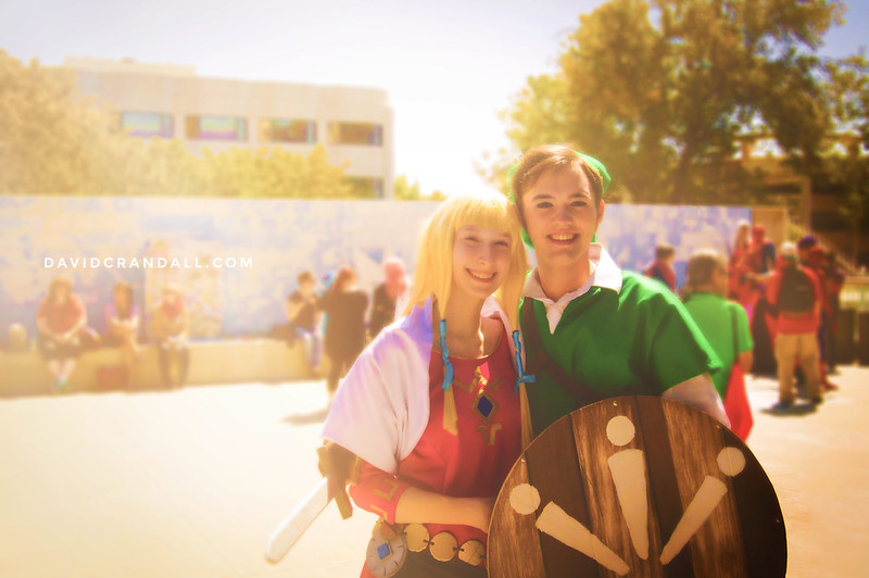 Link and Zelda Cosplay at SacAnime 2015