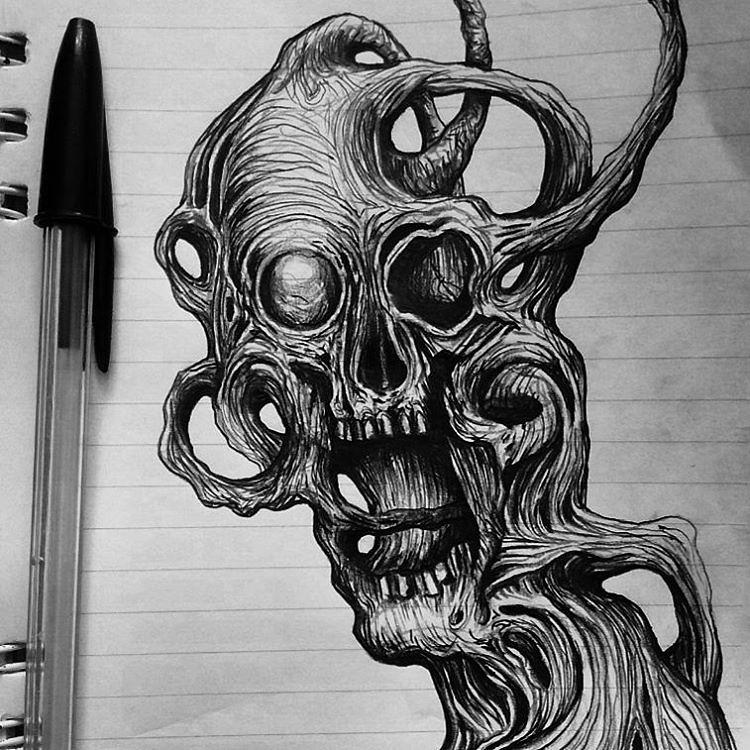 O Tedio E A Falta De Criatividade Me Faz Desenhar Caveiras Flickr