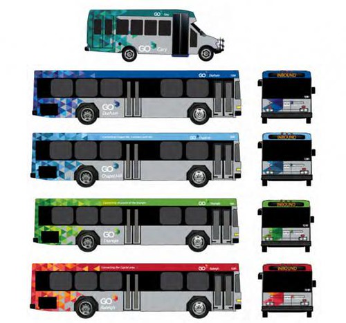 Design scheme for Go Transit bus systems in the Raleigh-Durham region
