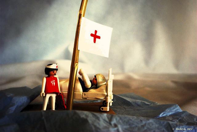 The nurse is in distress...