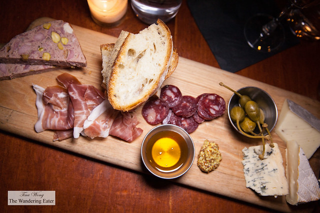 Charcuterie and cheeses