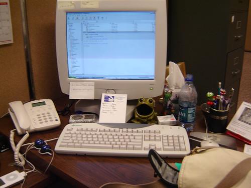 computer desk atwork