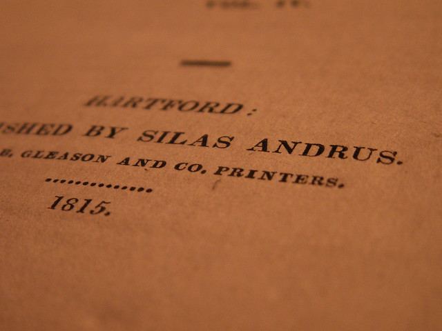 Published by Silas Andrus 1815