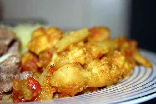 Phool Gobi Ki Bhaji - Cauliflower with Onions and Tomatoes