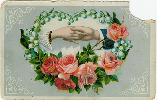 Hold my hand please - vintage greeting card