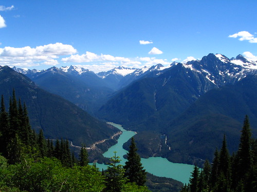 Ross Lake from the Sourdough Mountain Trail, North Cascades National Monument, Washington