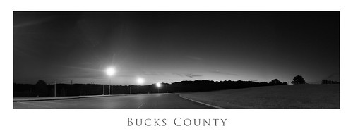 white black sunrise parking lot bnw buckscounty