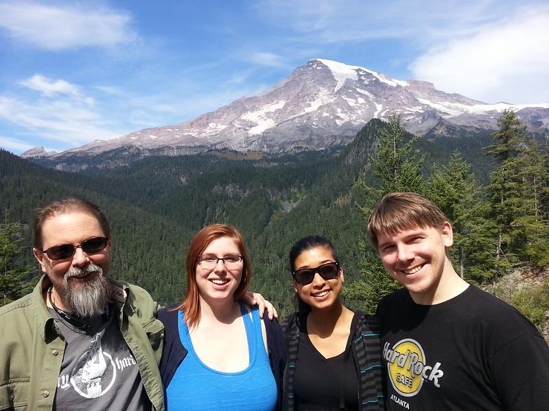 Terry, with Rachelle, Royna and Derek (Aug 2015)