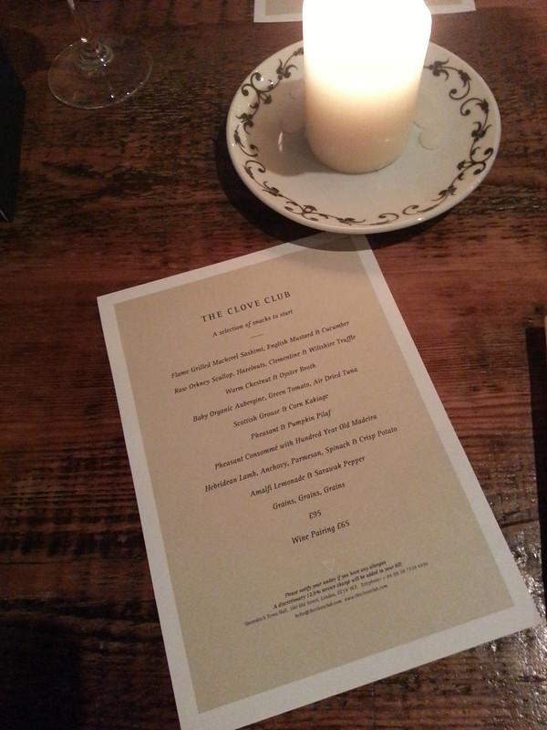 Extended Tasting Menu - The Clove Club