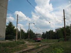 Nizniy Novgorod tram 71-605 3405 in 2007. Sotsgorod-1 loop.