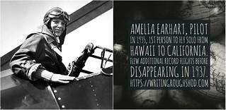 AMELIA EARHART #100travelHERS | by sandrakaybee