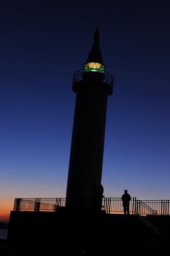 灯台 夜明け dawn sky 空