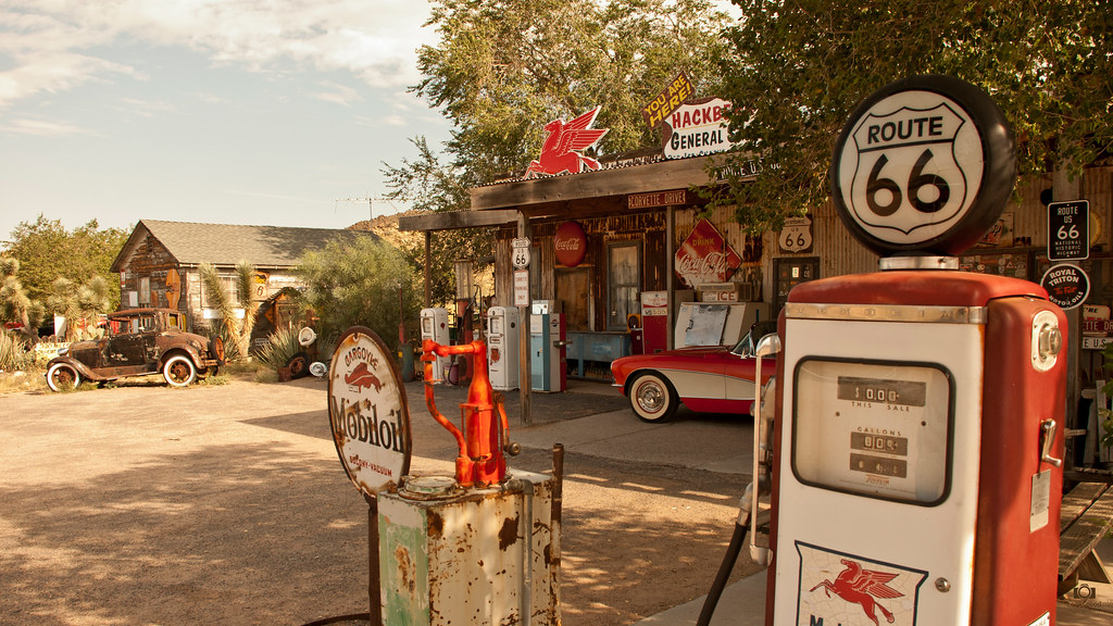 Route 66 Gas Station 4k Wallpaper Desktop Background Flickr