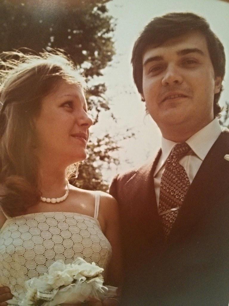 Wedding day in 1977