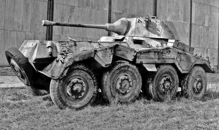 Destroyed Sd.Kfz.234 PUMA