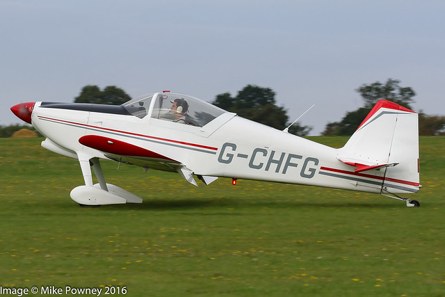 G-CHFG - 2013 build Vans RV-6, arriving at Sywell during the 2016 LAA Rally