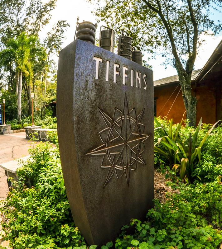 Tiffins outside sign