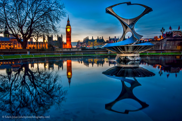 Blue Hour Pool with Big Ben