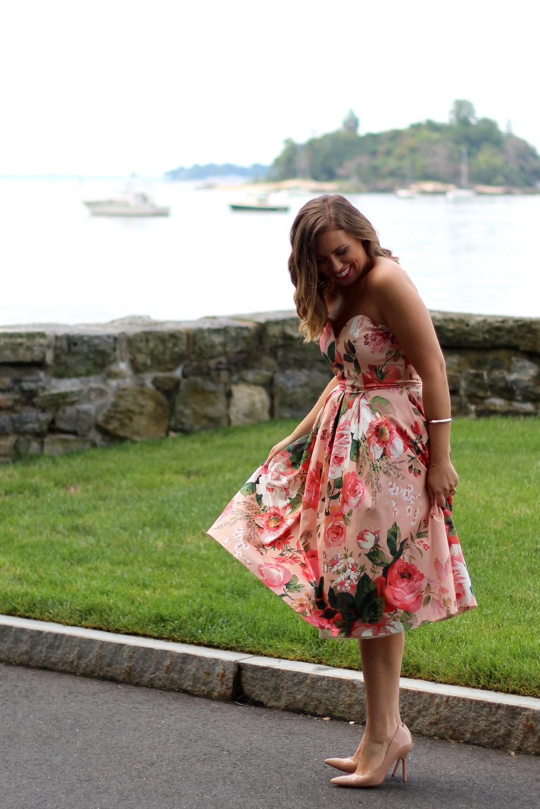 Floral Midi Dress | Wedding Guest Attire | A Look Back at 10 Years of Blogging Living After Midnite Blogger Jackie Giardina