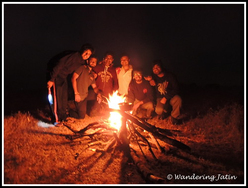 Camp Fire at Rajgad Fort | by wanderingjatin