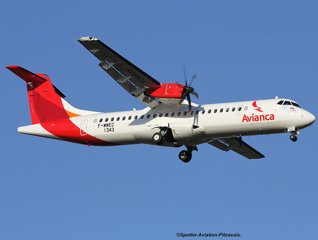 Avianca Argentina. First ATR 72-600 for the company.
