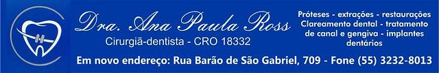 Anúncio Dra Ana Paula Ross