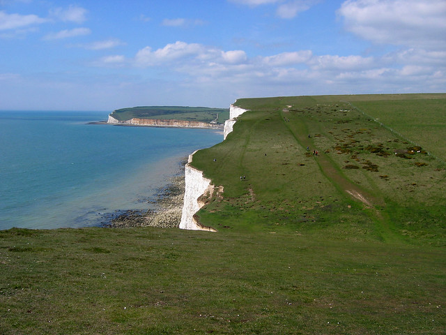 The South Downs Way over the Seven Sisters