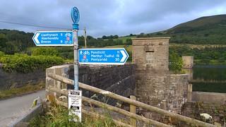 Taff Trail signpost at talybont Reservoir Dam | by pluralzed