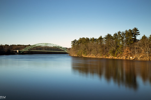 tyngsborough tyngsboroughbridge merrimackriver river longexposure bigstopper landscape nature architecture leefilters canon 6d 24105mm