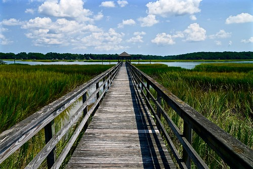 wood shadow summer cloud sc water clouds creek pier nikon ramp shadows south southcarolina august bluesky shade beaufort seagrass lowcountry boatramp carolinas 2015 beaufortcounty nikon2485 harborriver nikond610