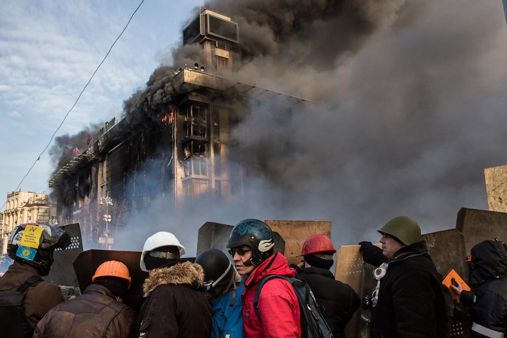 Burning Union Trades Building