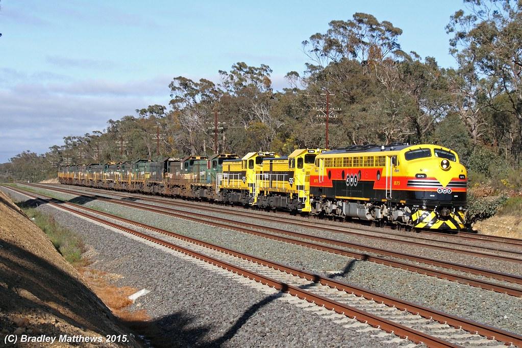 SSR light locos transfer near Tallarook on 5/9/2015 by Bradley Matthews