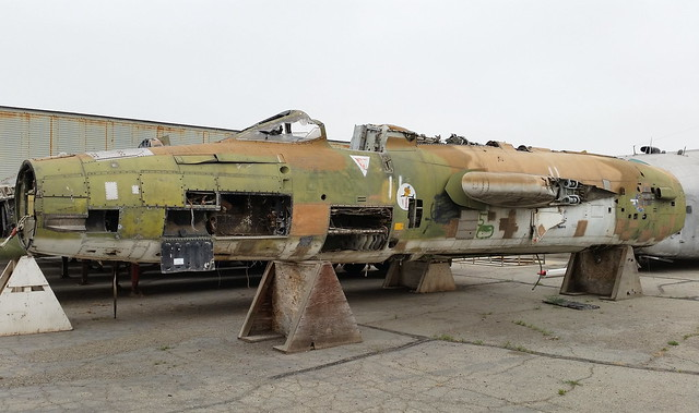 F-105D Thunderchief 60-0496 ex 121st Tactical Fighter Squadron/ District of Columbia Air-National-Guard, USAF. Stored/ Dismantled with the Yanks Air-Museum, Chino, California. 2nd of June 2016.
