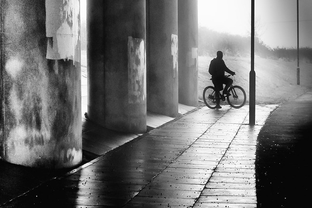 Biker Silhouette Maghull Liverpool.