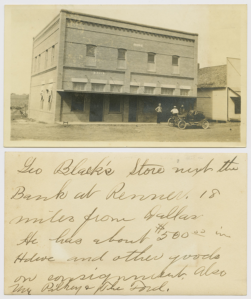 ... Black's Store, Next to Bank of Renner, Texas] - by SMU