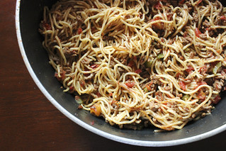 One pot spaghetti and meat sauce | by Erin_writes