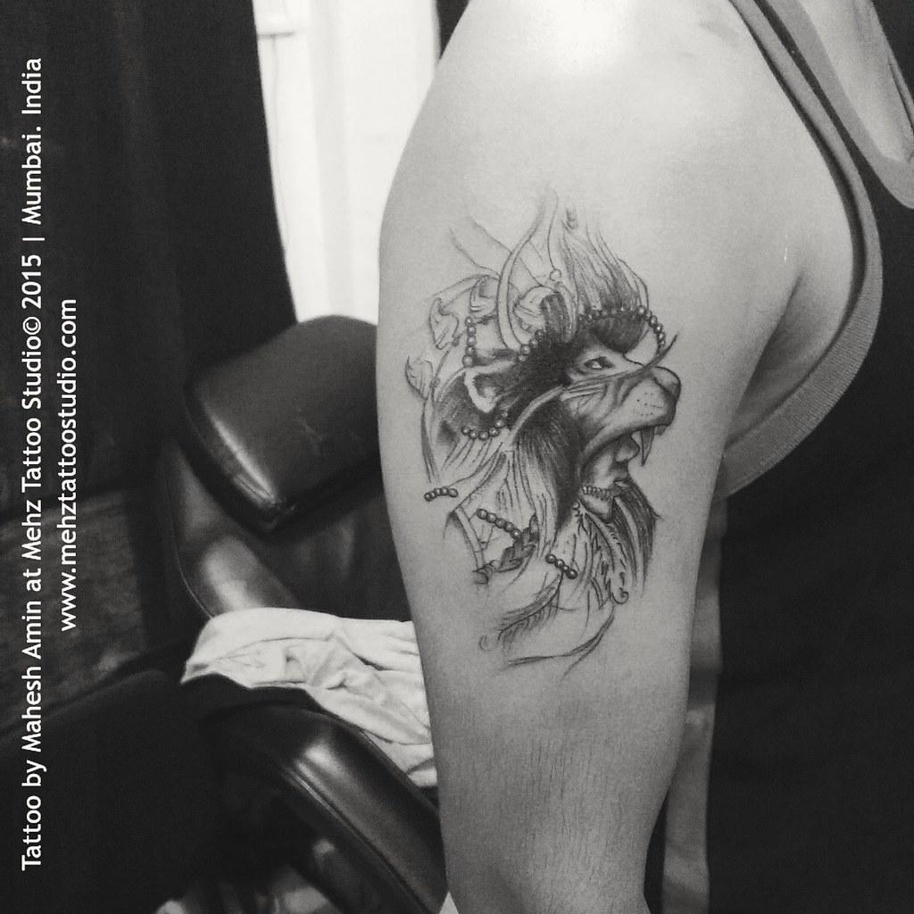 70cfe8dbf by amin_mahesh07 Red indian Lion Tattoo Done at Mehz Tattoo Studio. | by  amin_mahesh07