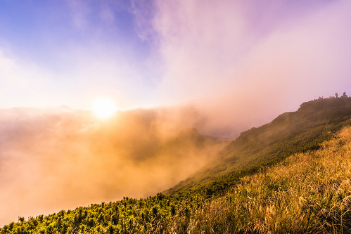 sunset cloud mist mountain fog dusk 夕陽 日落 合歡山 nantou 雲海 hehuan 霧