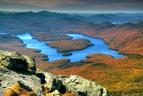 autumn usa lake newyork adirondack whiteface lakeplacid