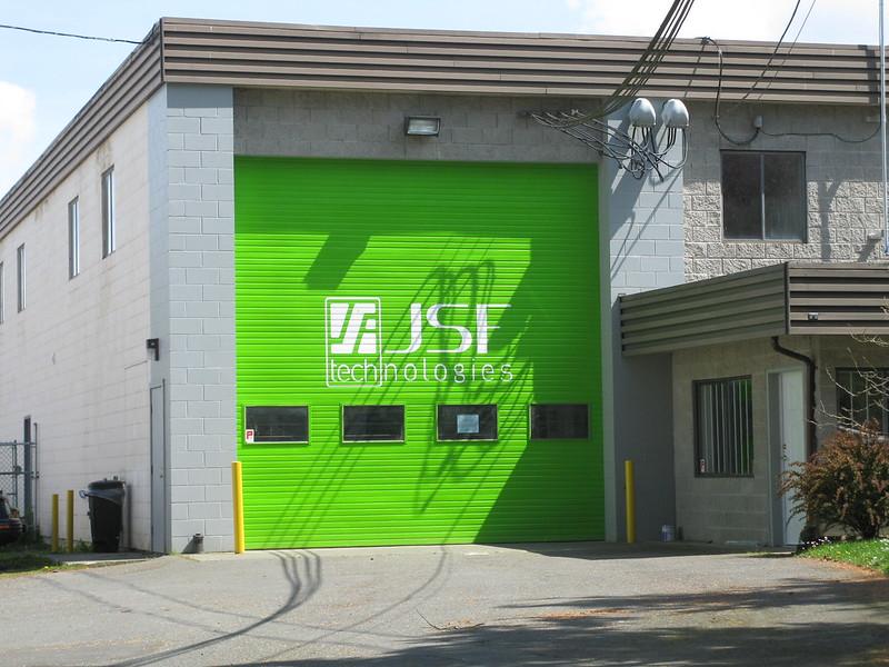 JSF vinyl on door