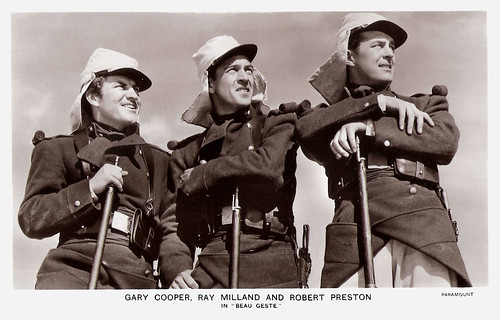 Robert Preston, Gary Cooper and Ray Milland in Beau Geste (1939)